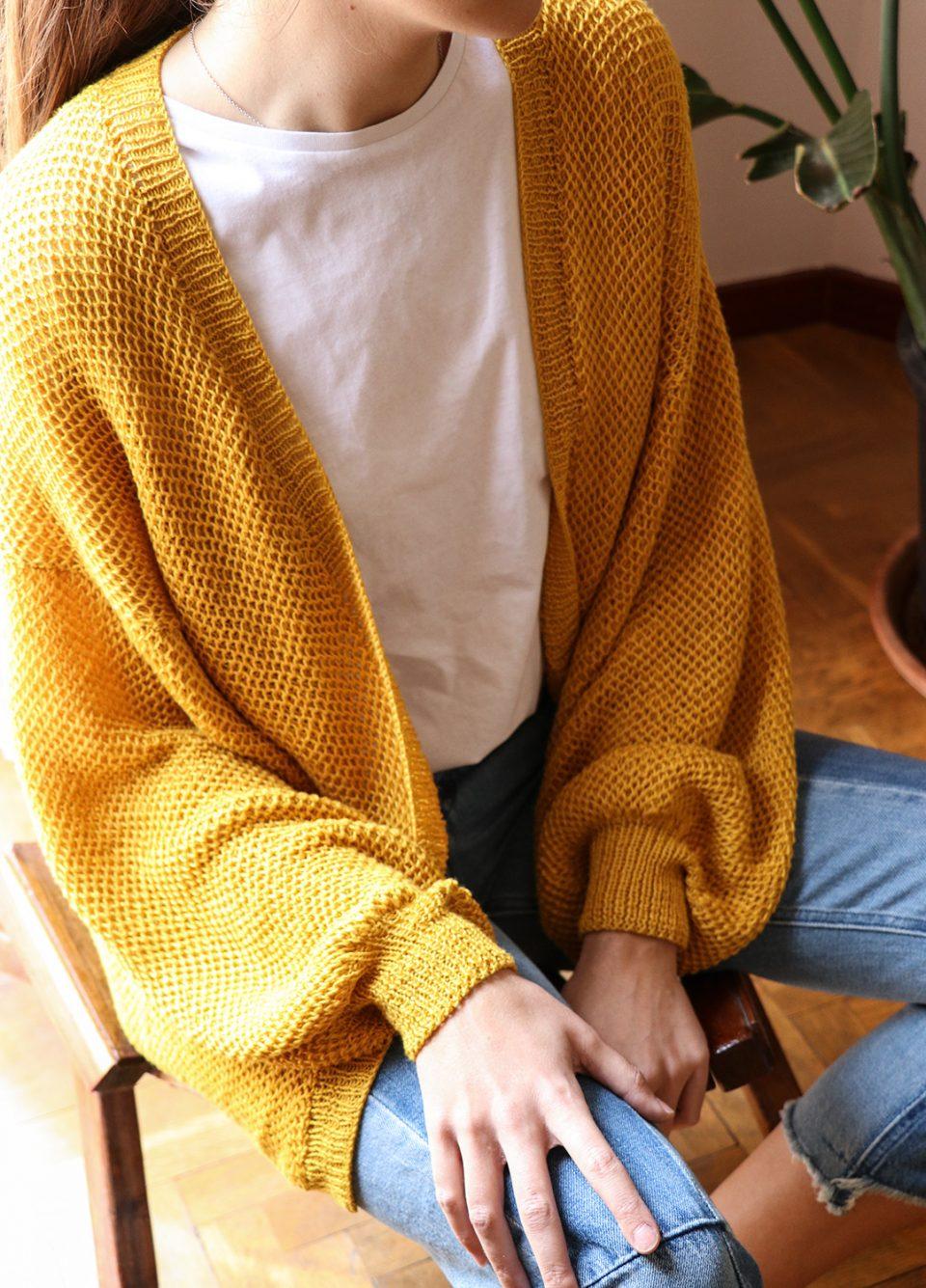 Un esempio di progetto: un maglione realizzato con i filati we are knitters