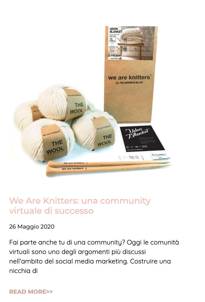 Articolo We are knitters 26 maggio 2020