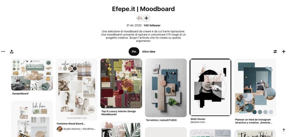 Pinterest - moodboard